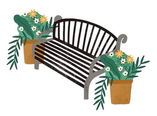 Chair & Plants